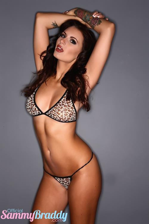 Sammy Braddy in lingerie