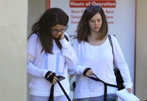 Selena Gomez taking her dogs to a Veterinary Clinic in Encino, November 24, 2012