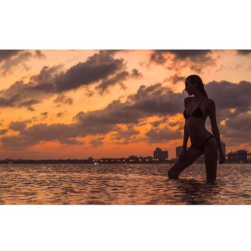 Anna Wolf in a bikini