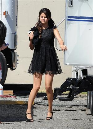 Selena Gomez on the set of 'Feed the Dog' in Pasadena August 27, 2012