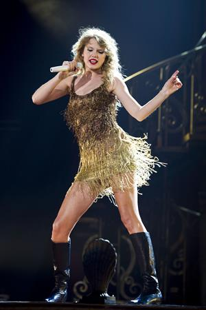 Taylor Swift performing live at Prudential Center in Newark July 19, 2011