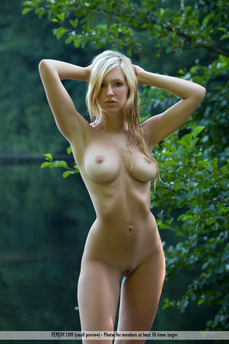 Femjoy Model Corinna naked outside