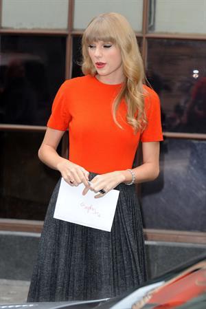 Taylor Swift outside BBC Radio 1 studios London October 5, 2012