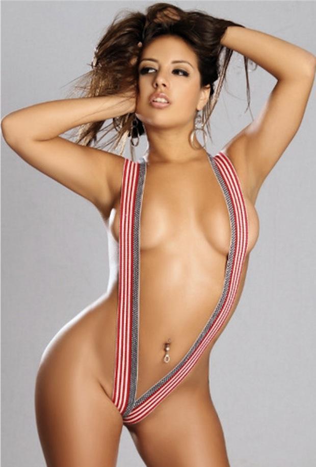 Jynx Maze in lingerie