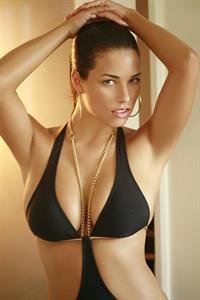 Janine Habeck in a bikini