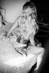 Maria Anohina in lingerie