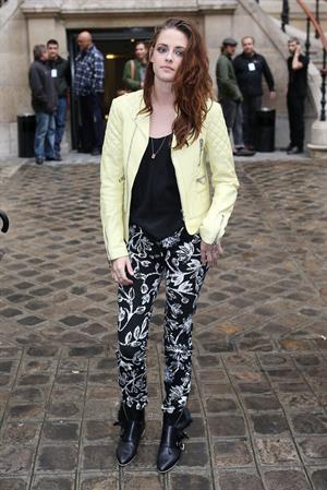 Kristen Stewart at the Balenciaga Spring Summer 2013 show in Paris on September 27, 2012