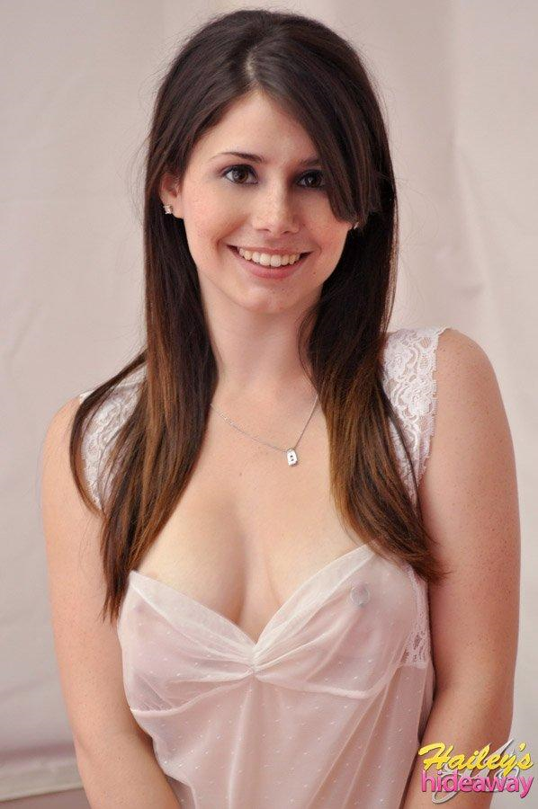 Hailey Leigh in lingerie - breasts