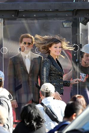 Olivia Wilde on the set of Burt Wonderstone in Las Vegas October 1, 2012