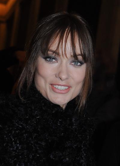 Olivia Wilde Giorgio Armani fashion show during Paris fashion week January 24, 2011
