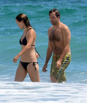 Olivia Wilde in a Bikini on the beach in Wilmington,North Carolina 8/22/12