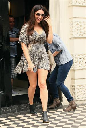 Kelly Brook - Candids In Short Dress Leaving Her Home August 15, 2013