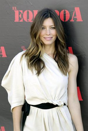Jessica Biel a team photocall Madrid Spain Juily 25, 1010