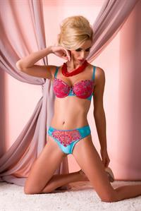 Sandra Brec in lingerie