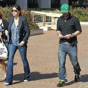 Jessica Biel leaving UCLA Medical Center October 2, 2012