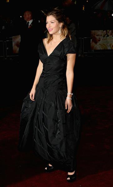 Jessica Biel screening of Easy Virtue during the BFI London Film Festival