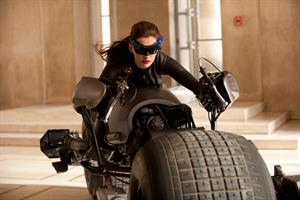 Anne Hathaway Catwoman in the Dark Knight Rises promos
