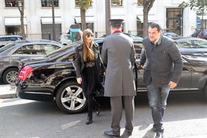 Jessica Biel Arrives at her hotel in Paris - October 7,2012