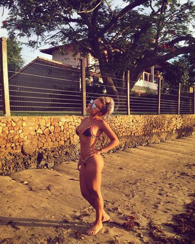 Malú Moreira in a bikini