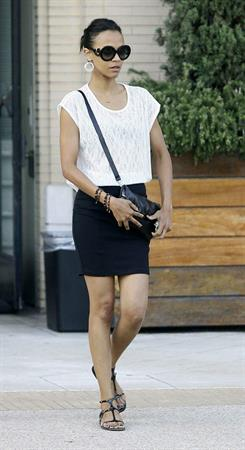 Zoe Saldana out and about in Beverly Hills July 7-2011