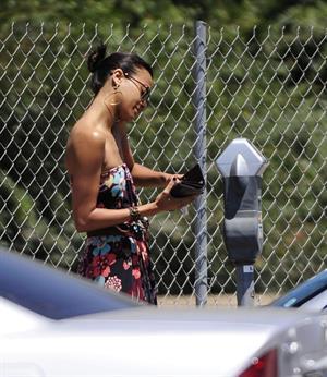 Zoe Saldana runs errands in LA August 5, 2011