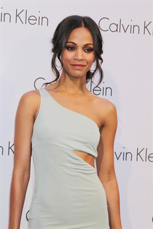 Zoe Saldana at The World Of Calvin Klein - Mercedes Benz Fashion Week Spring/Summer 2011 - July 7, 2010
