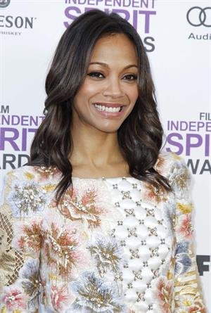 Zoe Saldana 2 Film Independent Spirit Awards in Santa Monica - February 25, 2012