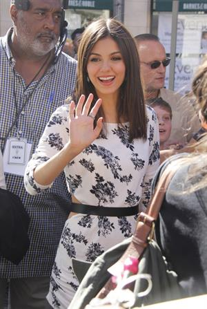 Victoria Justice set of Extra at the Grove in LA 10/26/12