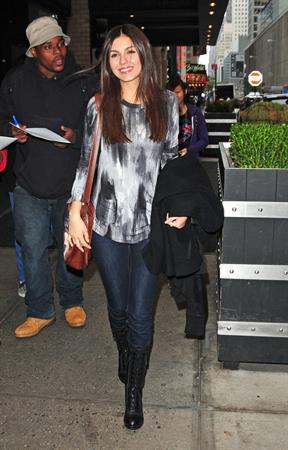 Victoria Justice leaving her hotel 10/24/12