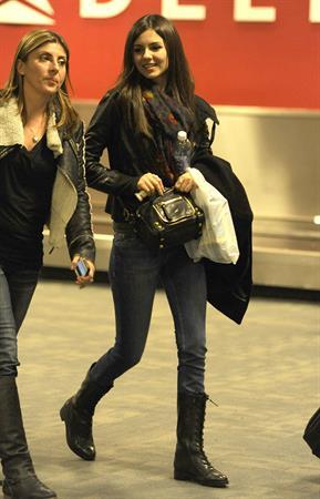 Victoria Justice arriving at JFK airport 10/22/12