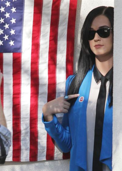 Katy Perry voting in LA November 6, 2012