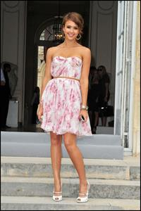 Jessica Alba at Christian Dior show during Paris fashion week 5-7-2010