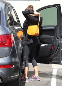 Jessica Alba going to her office in Santa Monica April 4, 2012