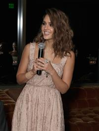 Jessica Alba Swarovski Elements private holiday dinner in West Hollywood