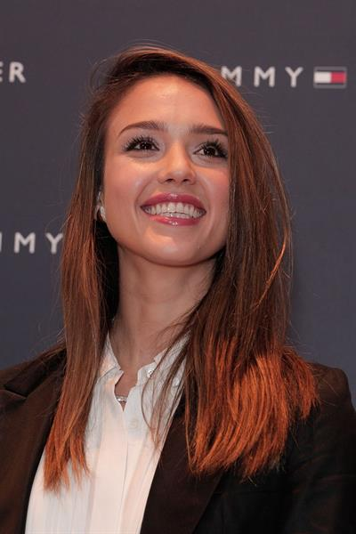 Jessica Alba at Tommy Hilfiger flagship store opening Japan April 16, 2012