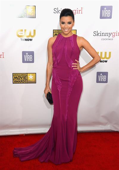 Eva Longoria 18th annual Critics' Choice Movie Awards 1/10/13