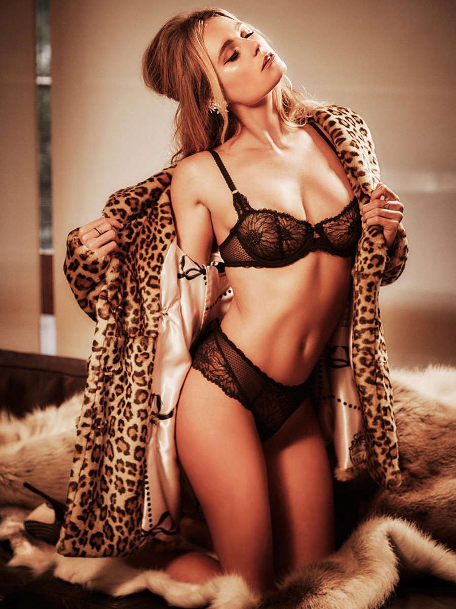 Alana Blanchard in lingerie