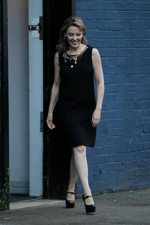 Kylie Minogue  At a music studio in Notting Hill - September 26,2012