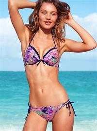 Caroline Corinth in the Victoria's Secret 2013 Swim Catalog.  She started modeling at 15 years old and was only 18 when she did this photo-shoot for Victoria's Secret