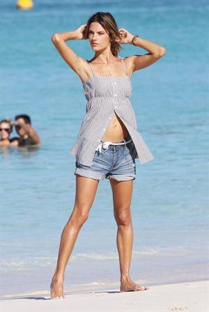 Alessandra Ambrosio photoshoot in St Barth on January 23, 2010