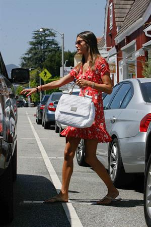 Alessandra Ambrosio out in Brentwood candids 21.08.11