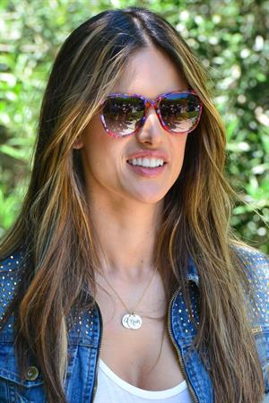 Alessandra Ambrosio set of a photoshoot in Beverly Hills on June 18, 2012