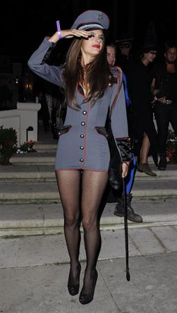 Alessandra Ambrosio at a Halloween party in Beverly Hills 10/26/12