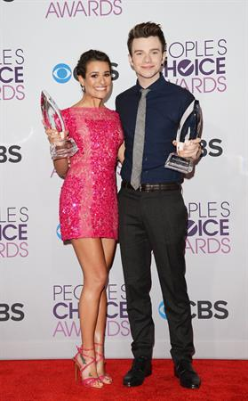 Lea Michele in pink at the 39th Annual People's Choice Awards in Los Angeles on Jan 9, 2013