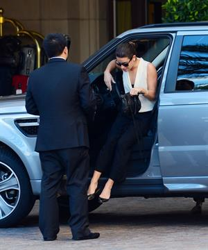 Lea Michele  Arriving at Montage Hotel  in Beverly Hills - Dec 26, 2012