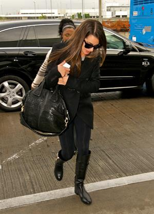 Lea Michele Departs from LAX Airport in Los Angeles November 17, 2012
