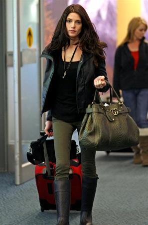 Ashley Greene at Vancouver International Airport April 29, 2012