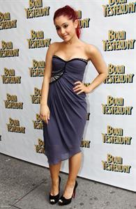 Ariana Grande opening night of Born Yesterday on April 24, 2011