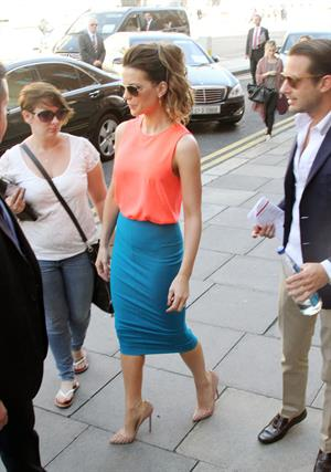 Kate Beckinsale leaving her hotel in Dublin, August 14, 2012