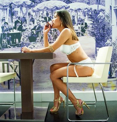 Aline Brum in lingerie